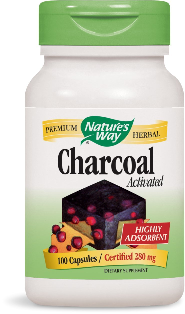 Nature's Way - Charcoal Activated 280 mg 100 cap (Pack of 2)