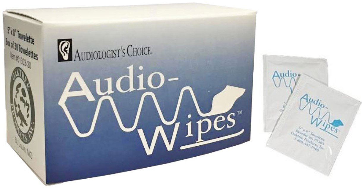 Audiowipes Disinfectant Towelettes 30 per box Oaktree Products