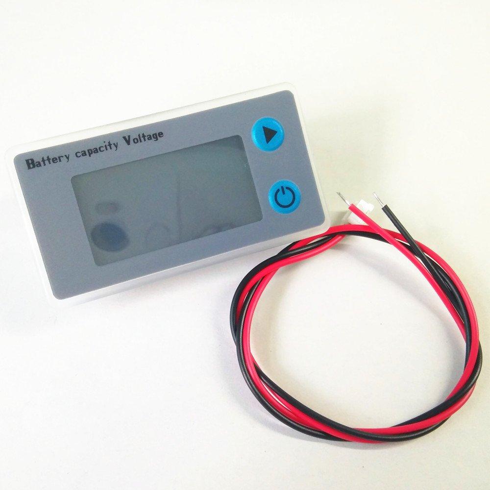 12V Battery Fuel Gauge, 12V Lead Acid Battery SLA Battery Tester Battery Meter For ATV,Quads and 4 Wheelers,Stages Power Meter Battery (12V SLA Fuel Gauge with Color LCD) by YZ (Image #3)
