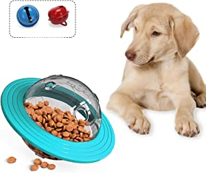 ZUDZUW Dog Planet Treat Toy Food Leak Treat Dispenser IQ Food Slow Feeder Ball Interactive Dog Puzzle Teeth Cleaning Toys for Training Dogs Intelligence for Small Medium Dogs