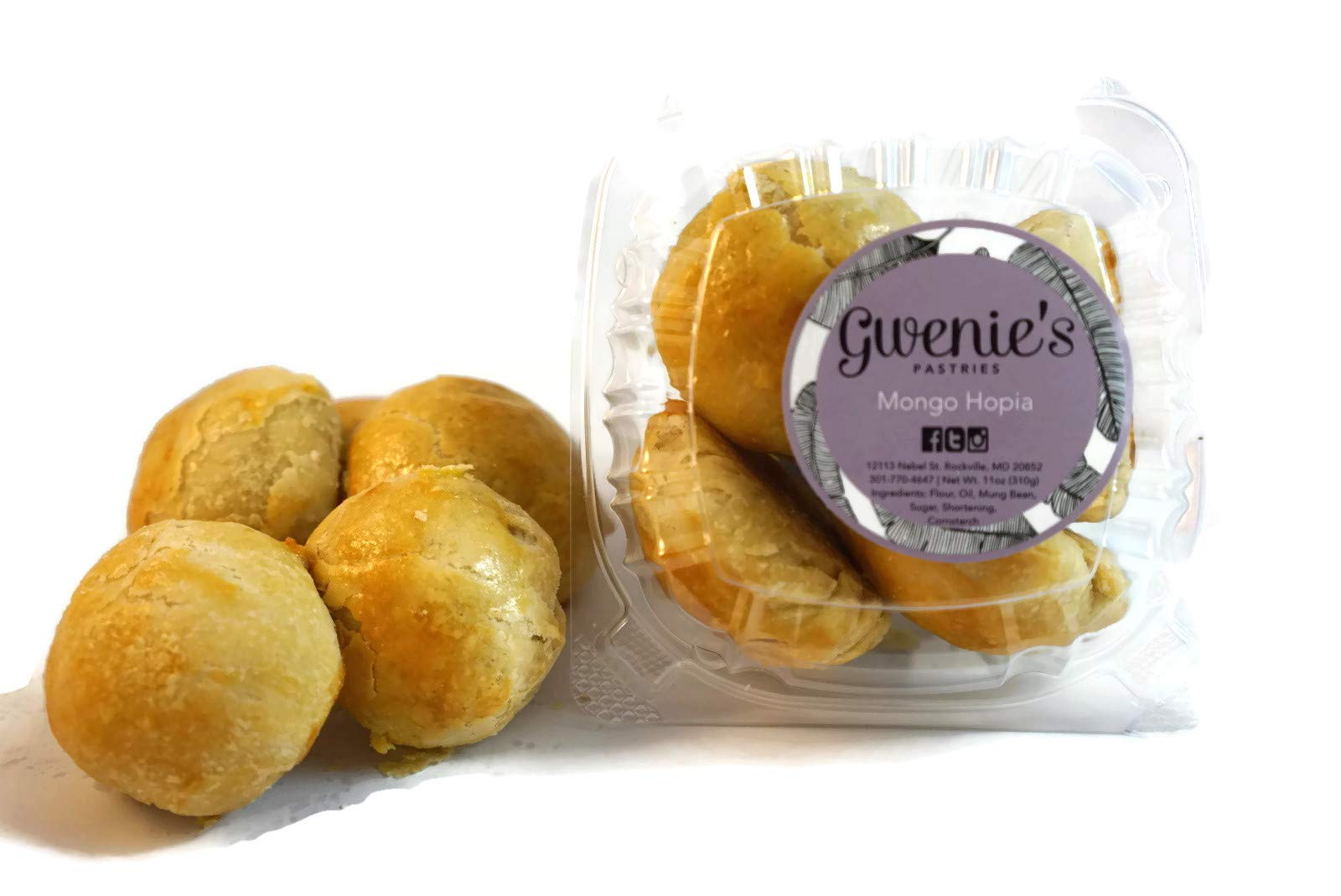 Gwenie's Pastries, Mongo Hopia (1 Pack/5 pieces per pack)