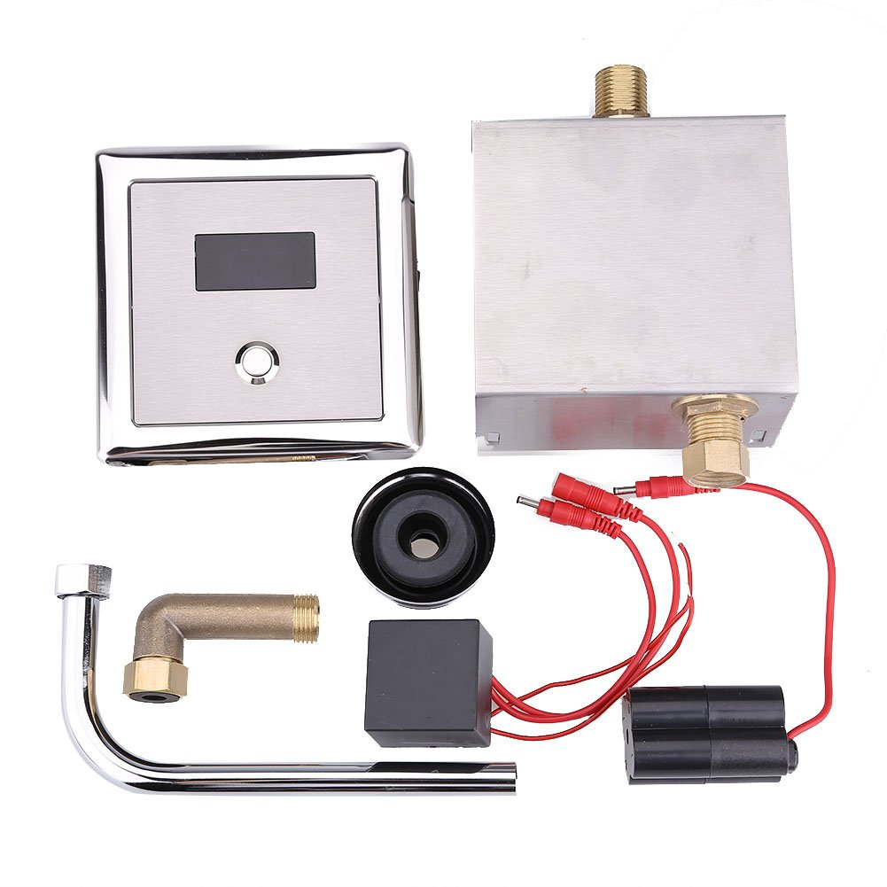 Zerodis Automatic Sensor Toilet Urinal Flush Valves Wall Mounted Lavatory Bath Toilet Faucet Taps