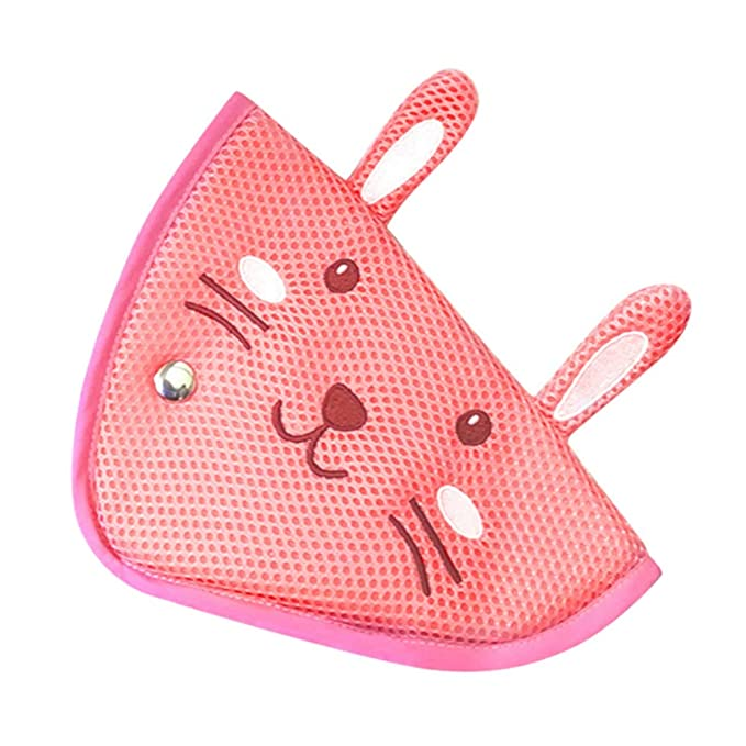 Miyanuby Safety Belt Protector Pad Car Safety Cover with Cute Animal Pattern Seat Belt Adjuster for Children//Adult Belly Support with Car Seat Belt Adjuster Pads