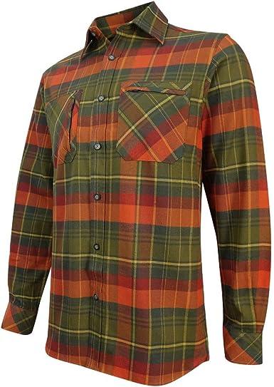 Hoggs of Fife - Camiseta de caza, color verde y naranja: Amazon.es: Ropa y accesorios