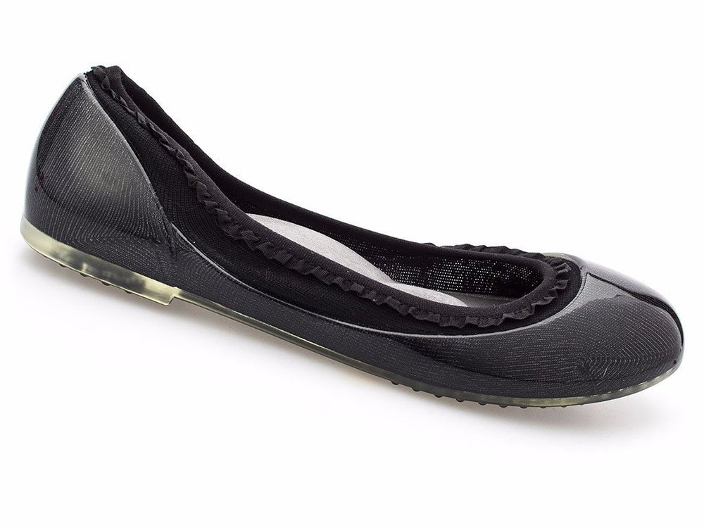 JA VIE Shoe Brands for Women Slip On for Every Day Wear Driving and Walking, Black Ruffle SZ 40
