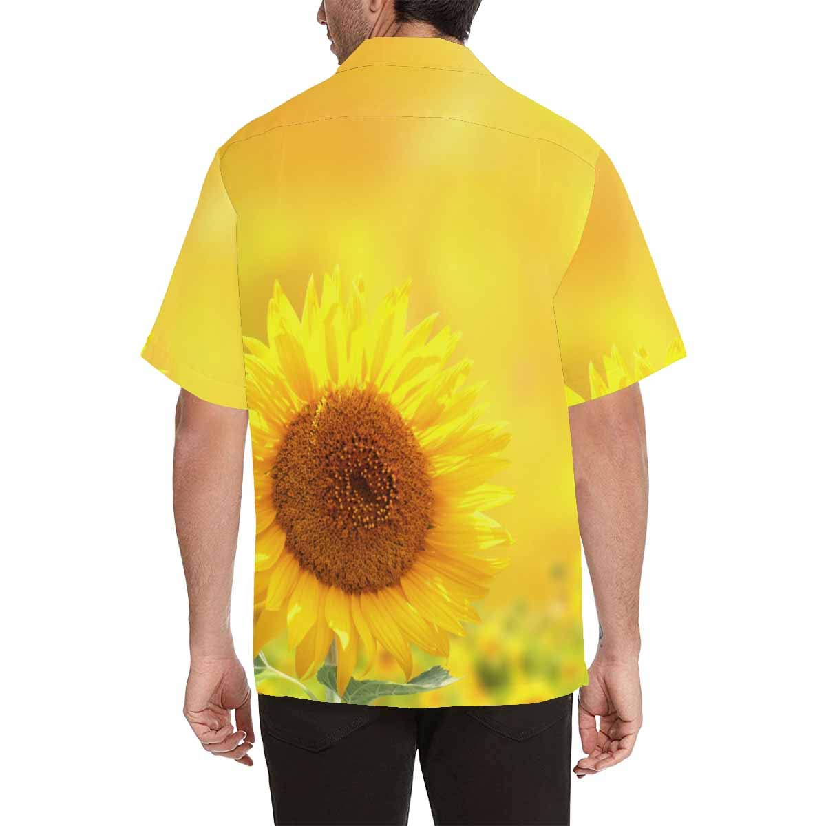 InterestPrint Bright Sunflowers Short-Sleeve Shirt Comfortable and Breathable