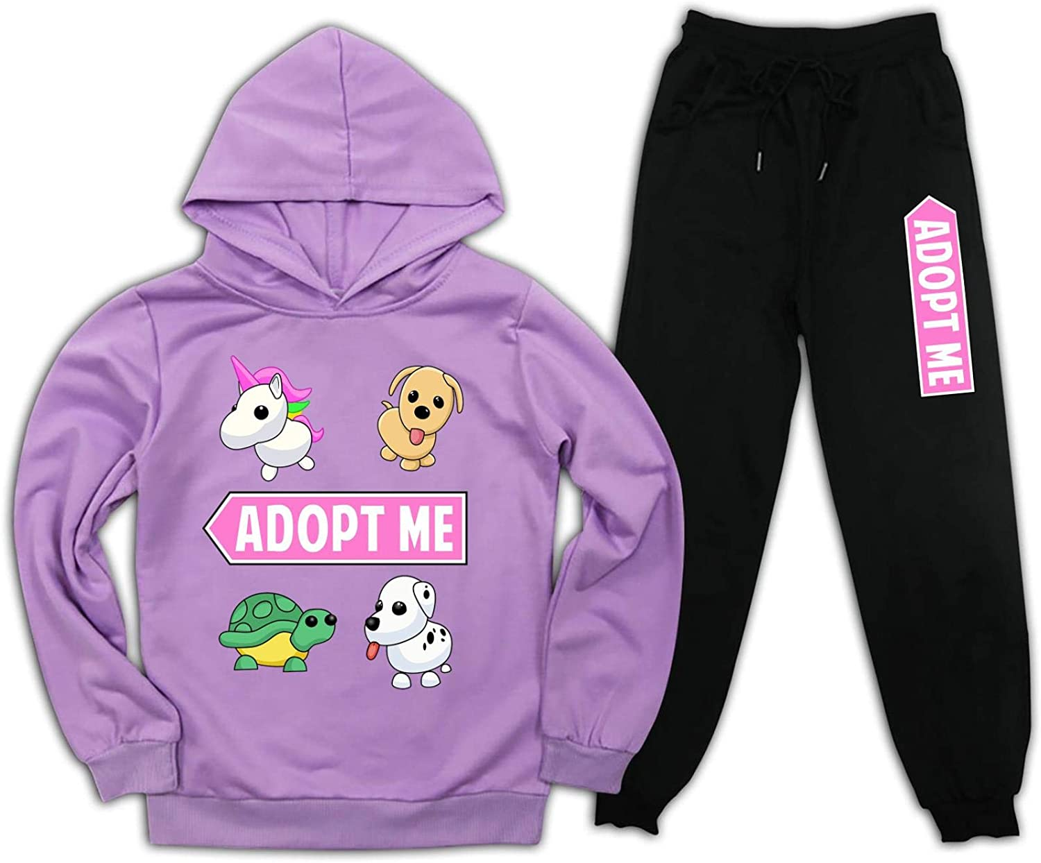 Youth Boys Girls r-ob-lox Adopt me Hoodie and Pullover Sweatpants...