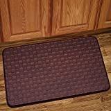 Sweet Home Collection Memory Foam Anti Fatigue Kitchen Floor Mat Rug, Playa Mocha, 30'' x 18''