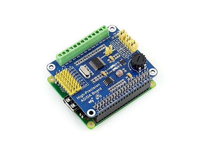 Amazon com: Raspberry Pi AD/DA Expansion Shield Board Onboard