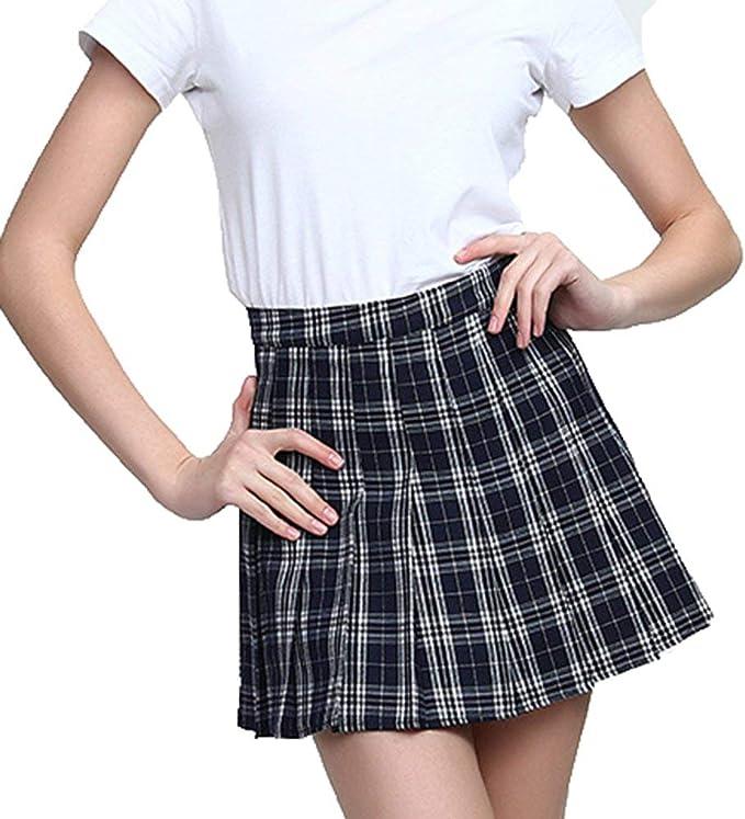 Mini Falda De Las Mujeres Alta De Cintura Casual Mode De Marca ...