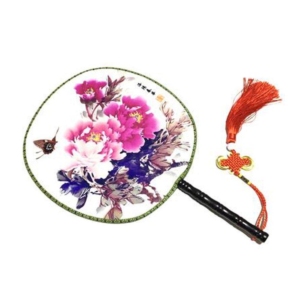 Attraktive chinesische runde Fan klassische Tanz Dan mit schönen Muster, #3