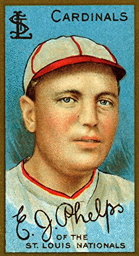 St. Louis Cardinals - Edward J. Phelps - Baseball Card (12x18 SIGNED Print Master Art Print w/ Certificate of Authenticity - Wall Decor Travel Poster) (Cards Phelps)