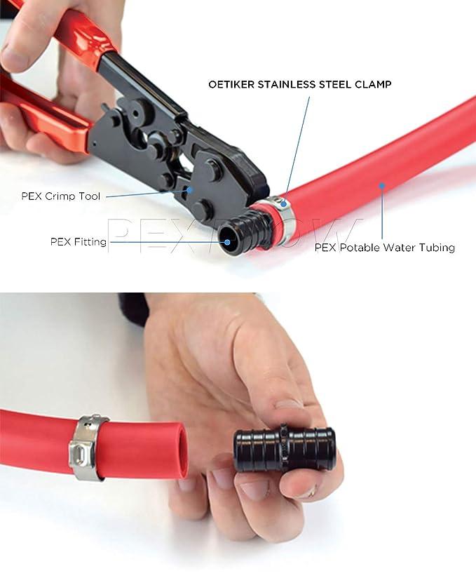 Amazon.com: Pexflow OTCR0038-50 Oetiker Style - Abrazaderas ...