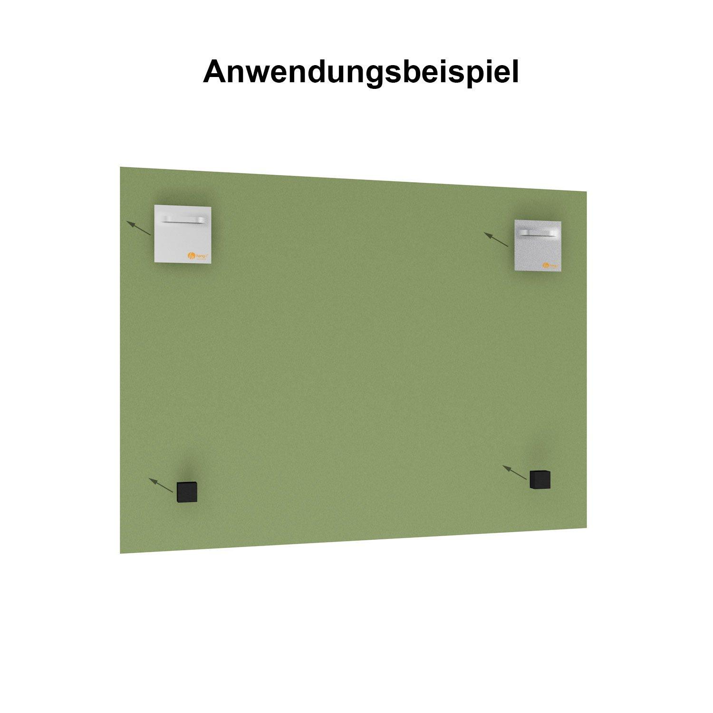 hang-it 5X Spiegel Aufh/änger Set inkl Spiegelhalter und 10 Abstandshalter 10 Spiegelaufh/änger