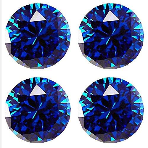 SCTD 8 PCS 30mm Crystal Drawer Knobs- K9 Crystal Diamond Shape Drawer Kitchen Cabinets Dresser Cupboard Wardrobe Pulls Handles (Blue) by SCTD (Image #1)