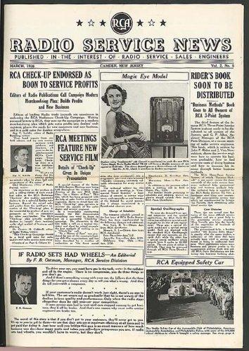Magic Eye Model: RCA RADIO SERVICE NEWS 3 1936