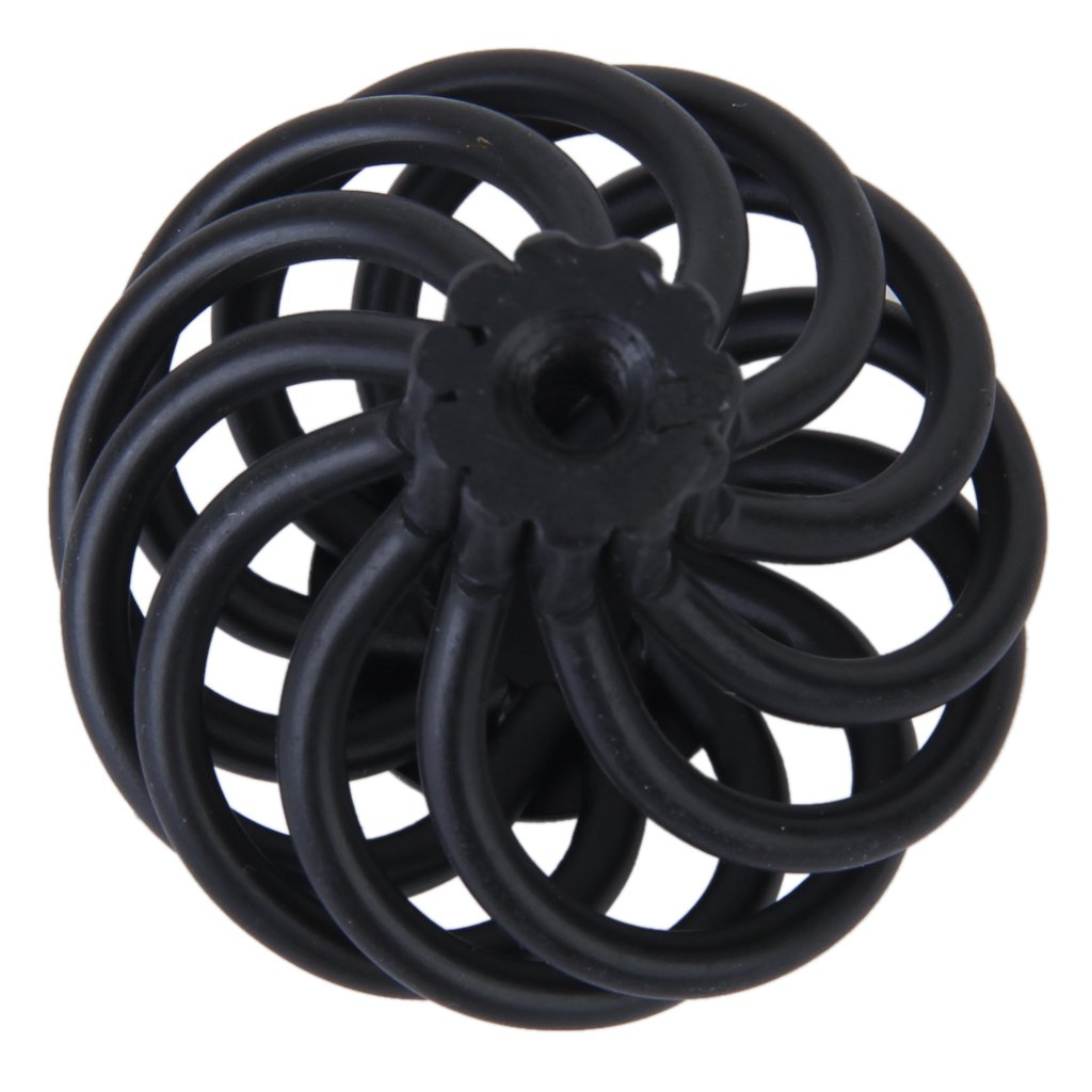 R Noir Poignee Bouton de Tiroir // Porte de lArmoire a Design de Cage Spirale TOOGOO