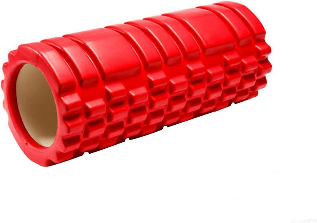 LAKUYO フォームローラー グリッドフォームローラー ストレッチローラー ヨガポール トレーニング ストレッチポール レッド