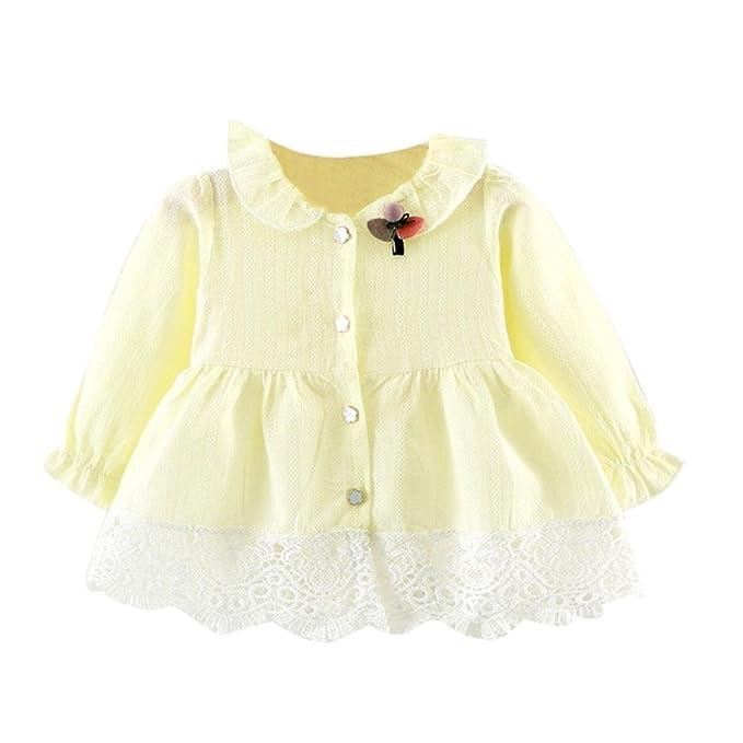 Bebé niña manga larga encaje tutú tul princesa fiesta falda vestido ,Yannerr primavera camiseta tops