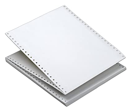 Amazon com : TOPS Continuous Computer Paper, Plain White, 1 Part