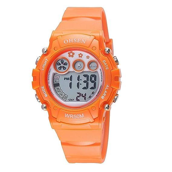 Reloj Digital electrónico automático a Prueba de Agua OHSEN, Digital, Multifuncional, Digital, Mundial y Femenino.: Amazon.es: Relojes