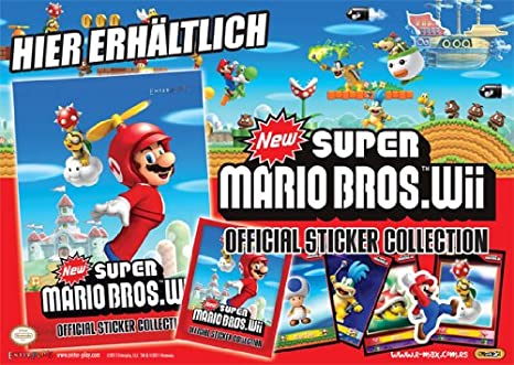 Sobre con 5 cromos Oficial Collection Super Mario Bros.: Amazon.es: Juguetes y juegos