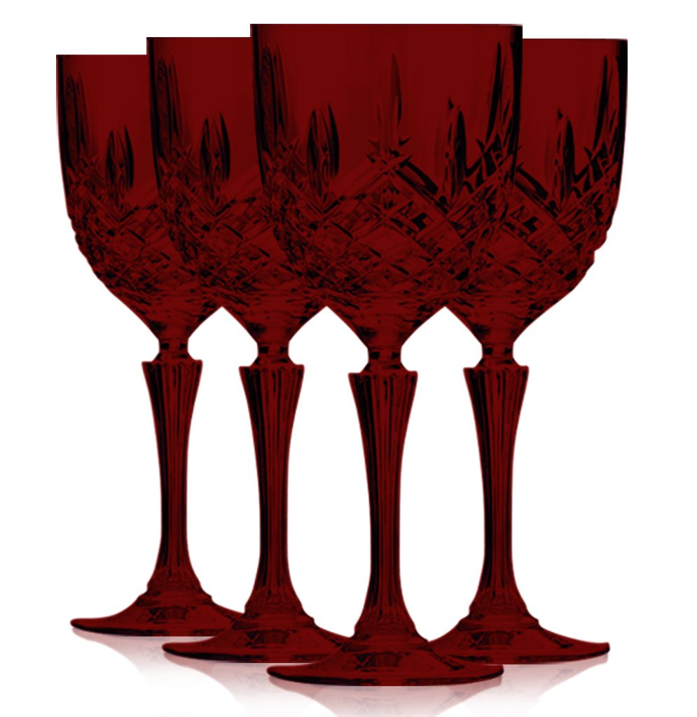 Waterford Red Wine Glasses Set of 4 (Additional Colors Available)
