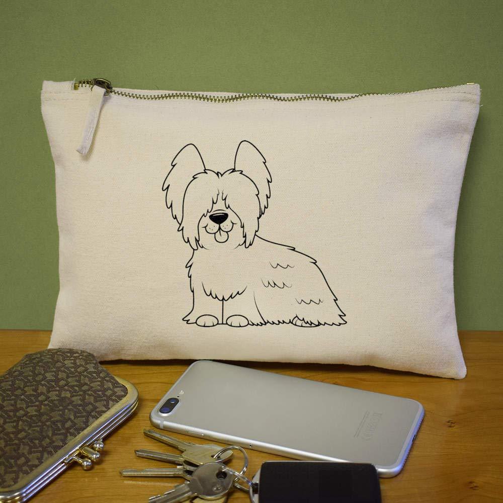 Skye Terrier Canvas Clutch Bag Accessory Case CL00007364