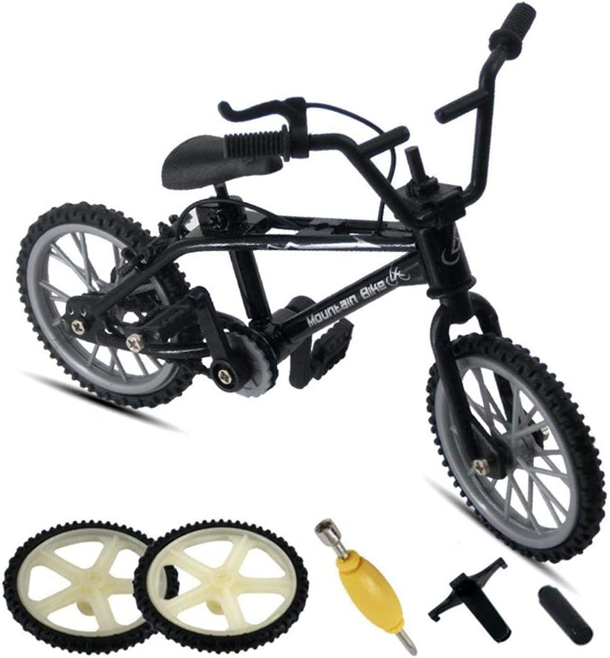 didatecar Finger Bikes Finger Mountain Bike With 2 Replacement Wheels And 3 Tools Finger Mountain Bike Mini Model Ornaments Mini Extreme Sports Party Favors