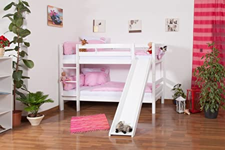Etagenbett Lukas Weiß : Kinderbett etagenbett moritz buche massiv vollholz weiß lackiert