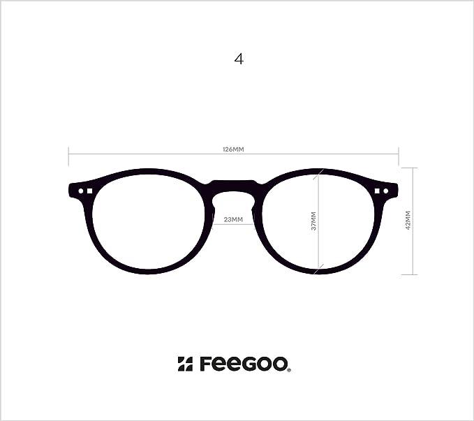 c3980f24a1ea FEEGOO Reading Glasses Men Women Unisex Prescription +1.0 Dioptres ...