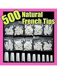 Yesurprise 500 White False French Nail Art Tips Uv Acrylic 064
