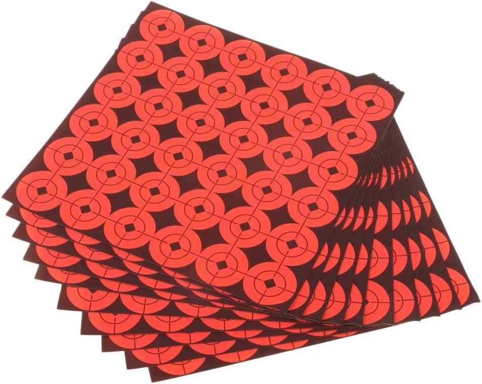 Toygogo 1080pcs Schie/ßpapier Ziel Fluoreszierende Orange Selbstklebende Zielaufkleber