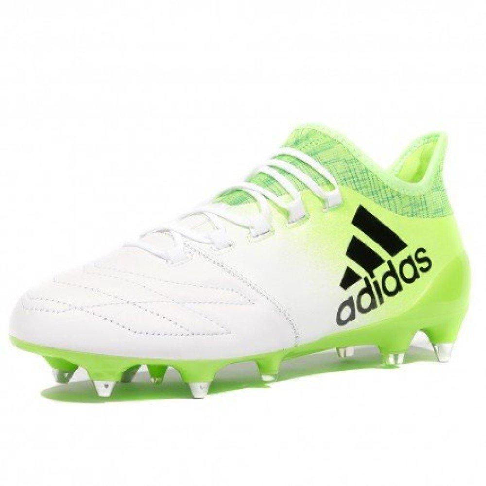 Adidas X 16.1 SG Fußballschuhe BB2126 Leder Weiß Grün OVP
