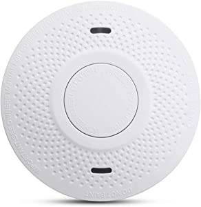 MOSUO Smoke Detector 10 Year Battery, Smoke Detector Battery Powered 3V (Not Hardwired) Complies with UL 217 Smoke Alarm for RV, Home, Garage, Guard, Deaf People, Camper, Hearing Impaired (Model:731)