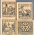 Stampin Up- Wonderful Woodcuts - New & Unmounted Set Of 4