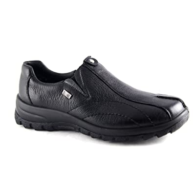 Rieker L7153 01 Black Leather Waterproof Shoe 40: Amazon.co