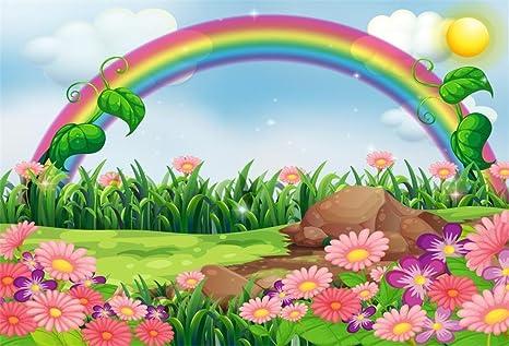 Amazon Aofoto 10x7ft Cartoon Spring Landscape Background