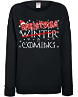 Womens Funny Sweatshirt-Christmas Winter is Coming Game of Thrones Inspired