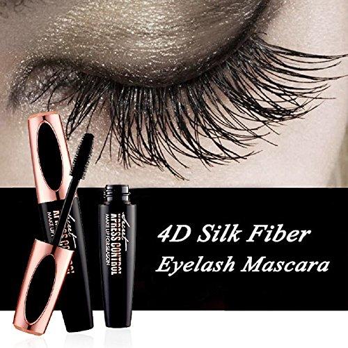 Vivi Do 4D Silk Fiber Eyelash Mascara-Eyelashes Lengthening and Thick, Long Lasting for 12 Hours, Perfect Waterproof Effect