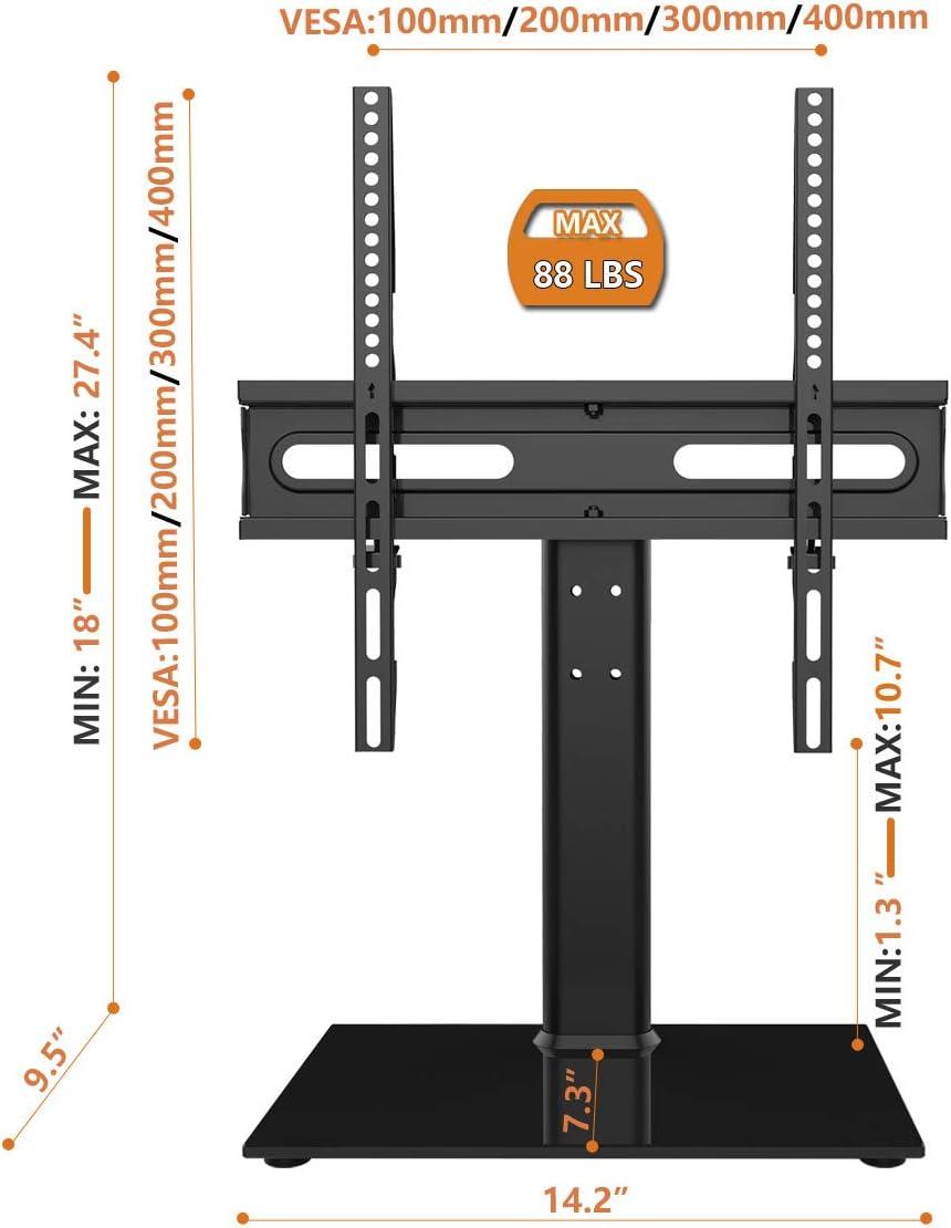Universal Swivel TV Stand VESA 400x400mm HT06B-002 Table Top TV ...