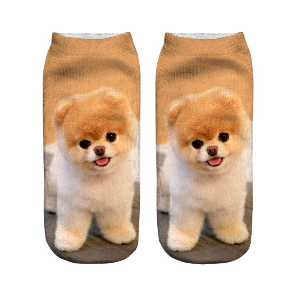 Amazon.com: Women Bear Animals Print 3D Sock Unisex Low Cut Ankle Socks Cute Crazy Casual: Clothing