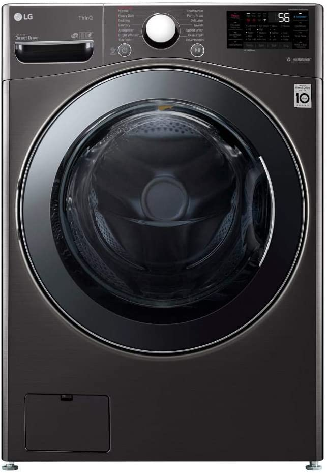 6. Best Fast Washing: LG WM3998HBA 4.5 Cubic feet Capacity Turbo Washer and Dryer.