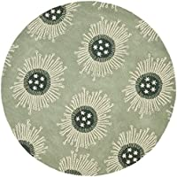 Safavieh Soho Collection SOH852B Handmade Light Blue and Multi Premium Wool Round Area Rug (6 Diameter)