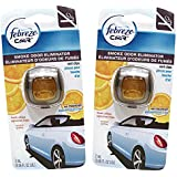 Febreze Car Vent Clips Air Freshener Smoke Odor Eliminator, Citrus Scent 2 Pack