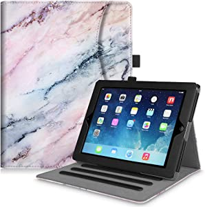 Fintie Case for iPad 2 3 4 (Old Model) 9.7 inch Tablet - [Corner Protection] Multi-Angle Viewing Smart Cover with Pocket, Auto Sleep/Wake for iPad 2/3 & iPad 4th Gen Retina Display, Marble Pink