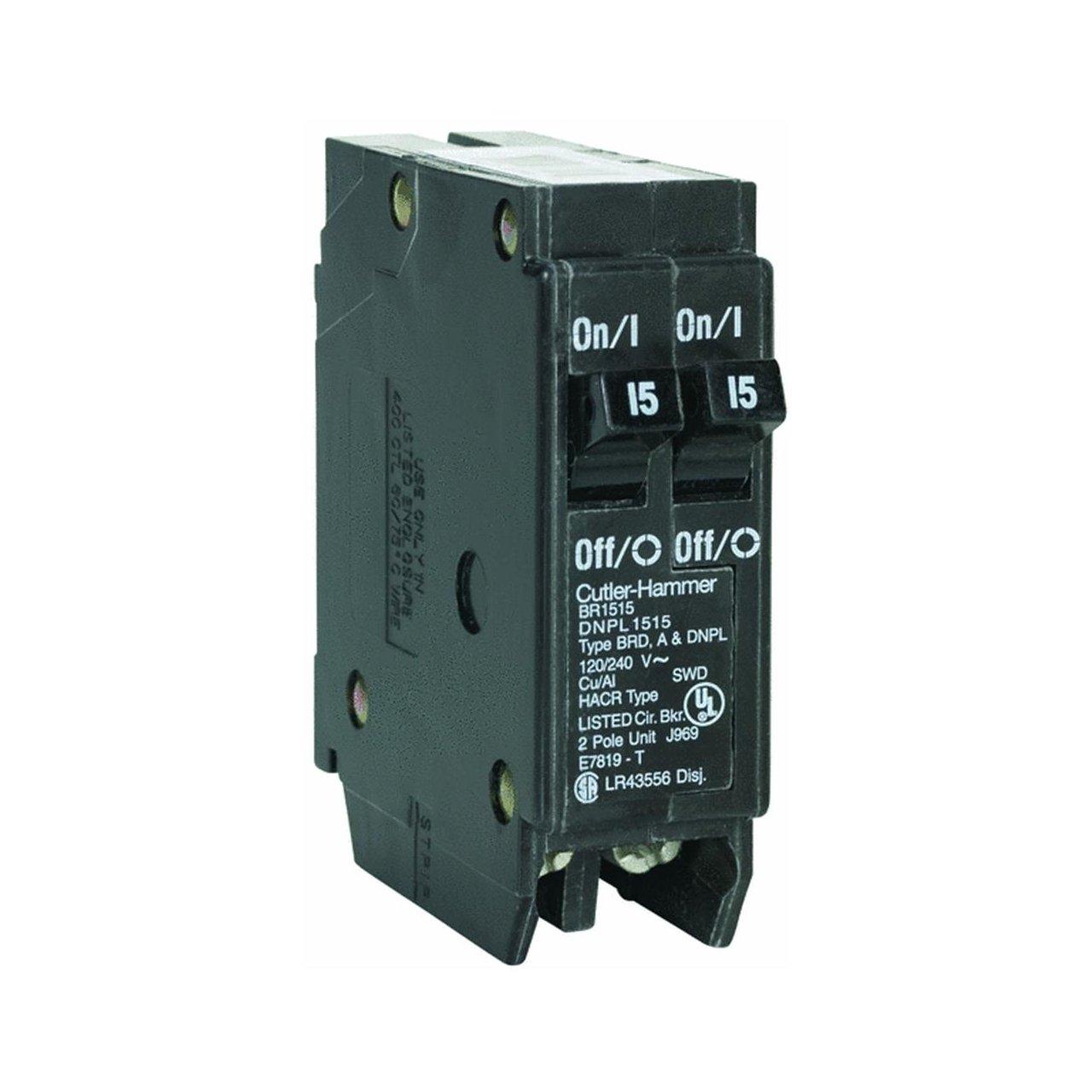 Duplex Cutler Hammer Br2020 Circuit Breaker 120 Volt Schematic Wiring Industrial Scientific