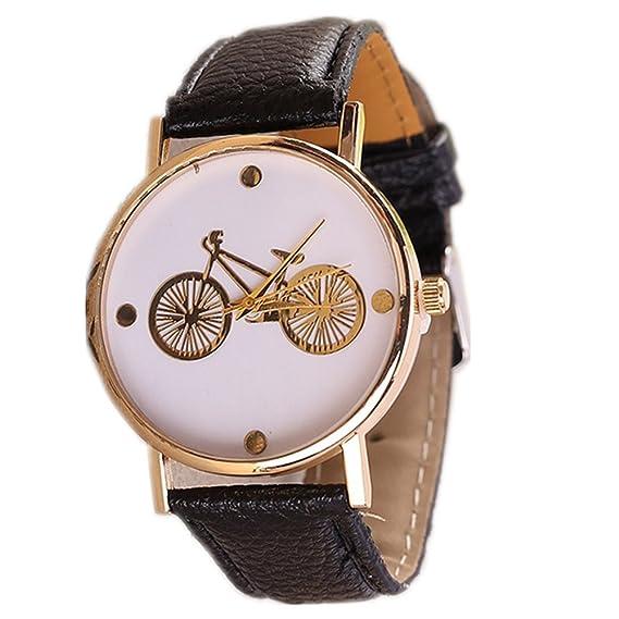 NUEVO reloj de cuarzo Mujer Bicicleta Estilo Relojes Moda de piel de mujer vestido de reloj de pulsera Relojes de marca Hot Vender gq-101: Amazon.es: ...