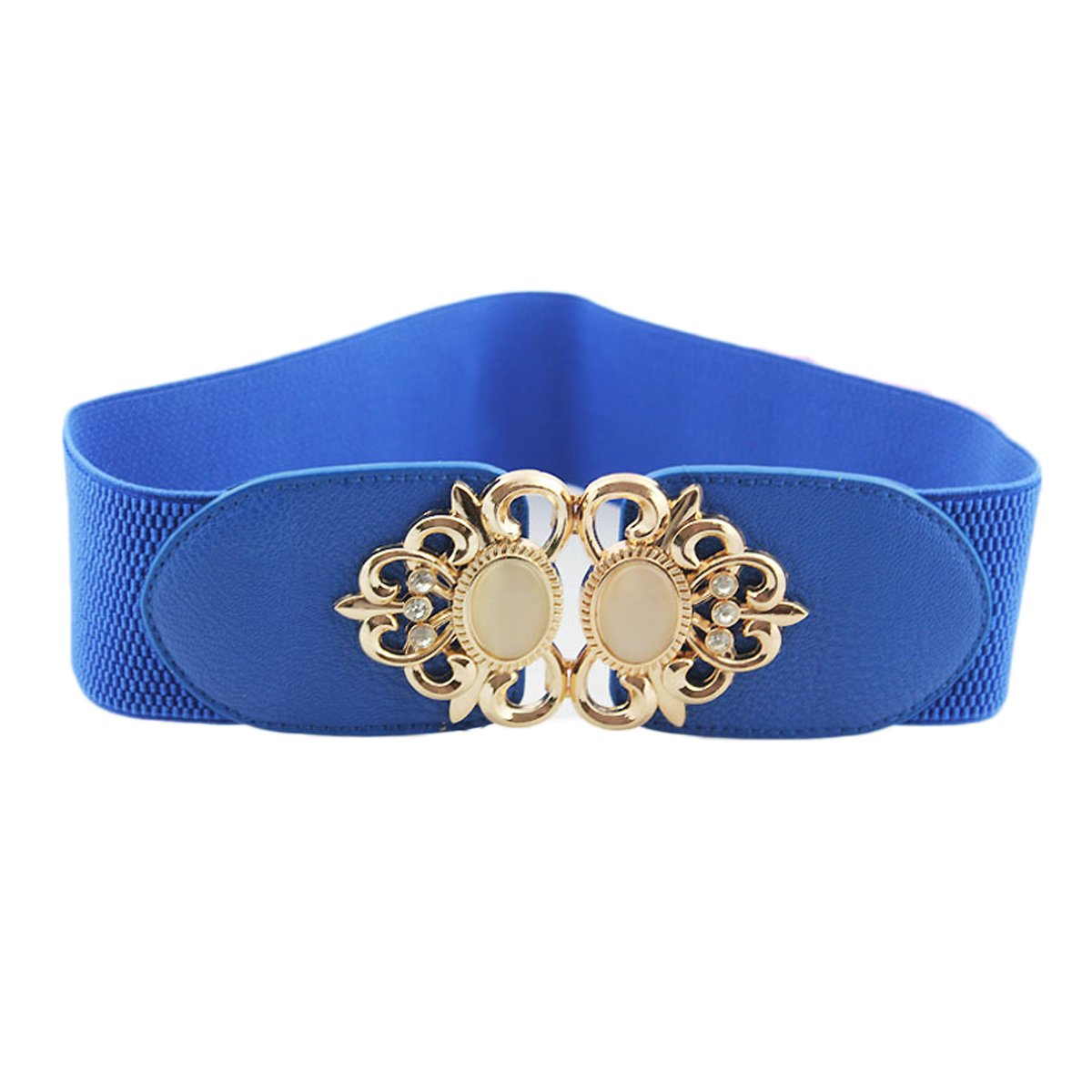 f21b8734756 Womtop Women Belts 3 PCS Vintage Waist Belt Wide Elastic Stretch Retro  Cinch Belt for Women (Beige+Blue+Red) at Amazon Women s Clothing store