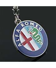 YI MEI DA Metal Car Keychain Key Ring Key Chain Keyring for Alfa Romeo Giulietta Mito Spider GT Key Holder Car Styling